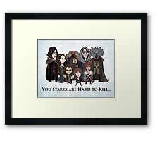 (Book 5 SPOILERS) Stark Family Portrait Framed Print