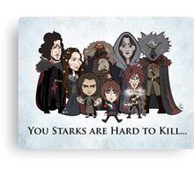 (Book 5 SPOILERS) Stark Family Portrait Canvas Print