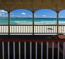 Kirra Beach Through The Shed by Noel Elliot