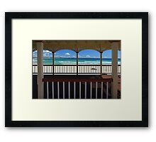 Kirra Beach Through The Shed Framed Print