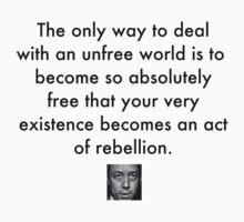 Camus Quote 1 (black text) T-Shirt