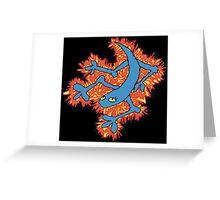 Fire Lizard Greeting Card