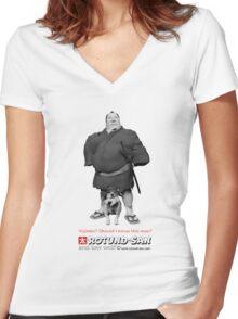 The Bodyguard (Black & White) Women's Fitted V-Neck T-Shirt