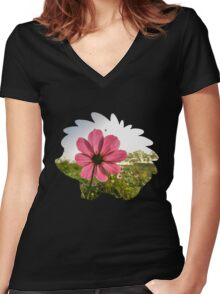 Shaymin used natural gift Women's Fitted V-Neck T-Shirt