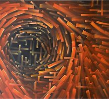 Abstract Contemporary Art - Working of Metaphysics by CHStudio