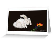 Angora Rabbit Greeting Card