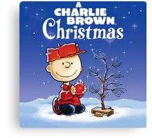 CHRISTMAS WITH CHARLIE BROWN TREE Canvas Print
