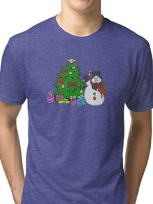Christmas Tree Tri-blend T-Shirt