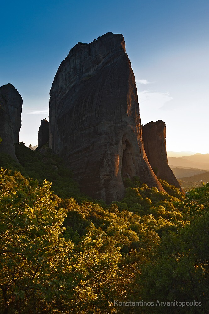 Sunset over the ancient pinnacles by Konstantinos Arvanitopoulos