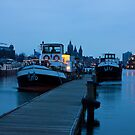 Port Of Amsterdam Before Dawn by kirilart