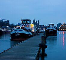 Port Of Amsterdam Before Dawn by kirilart