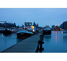 Port Of Amsterdam Before Dawn Photographic Print