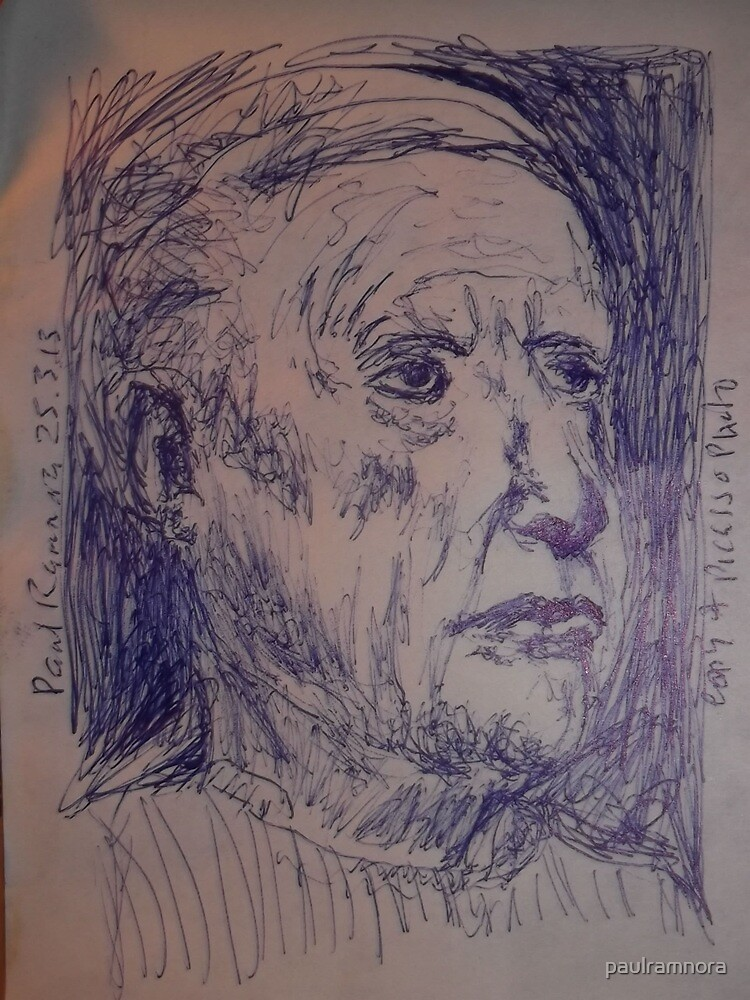 Picasso sketch -(250313)- A5 sketchpad/Blue biro pen by paulramnora