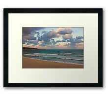 Black Sea Coast near Varna at Dusk Framed Print