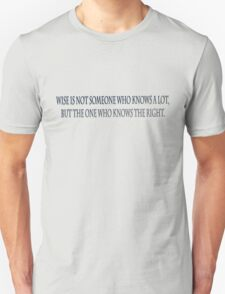wise text T-Shirt