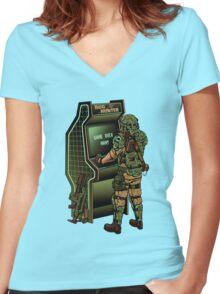 BUG HUNTER  Women's Fitted V-Neck T-Shirt