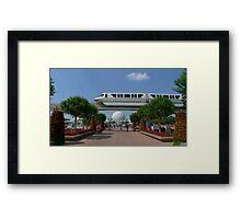 Spaceship Earth & Monorail - Epcot Framed Print