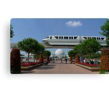 Spaceship Earth & Monorail - Epcot Canvas Print