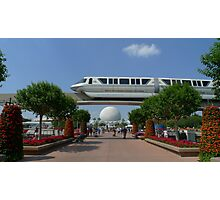 Spaceship Earth & Monorail - Epcot Photographic Print