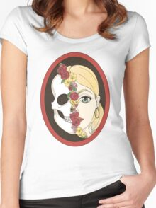 Skull Mirror Women's Fitted Scoop T-Shirt