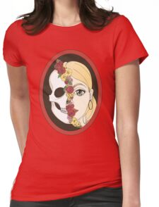 Skull Mirror Womens Fitted T-Shirt