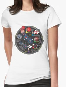 Evolution of the atomic model Womens Fitted T-Shirt