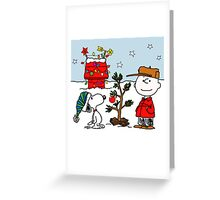 SNOOPY CHARLIE BROWN CHRISTMAS Greeting Card