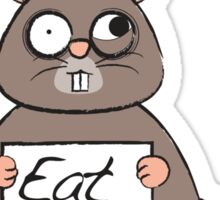 Don't eat cat poo Sticker