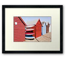 Beach Huts - Herne Bay Framed Print