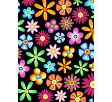 Spring Flowers Colorful Naif Design Photographic Print