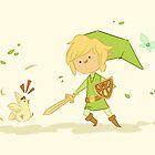 Legend of Zelda: Link and Chicken by CodiBear8383