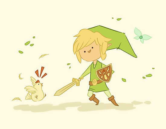Legend of Zelda: Link and Chicken by CodiBear8383
