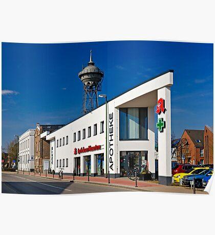 Apotheke am Wasserturm, Meerbusch Lank-Latum, Germany. Poster