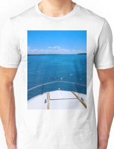 Boating, Torch Lake, Michigan Unisex T-Shirt