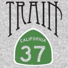 Train California 37 Sign Green by ILoveTrain