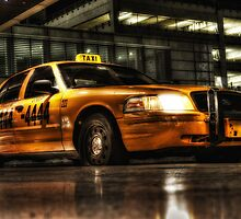 Yellow Cab  at Miami International Airport in Florida, USA by Jeremy Lavender Photography