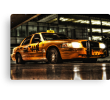 Yellow Cab  at Miami International Airport in Florida, USA Canvas Print