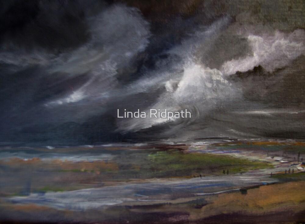 Storm over Norfolk coast by Linda Ridpath