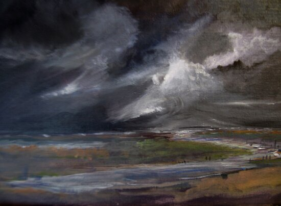 Storm over Norfolk coast by Linda Ridpath