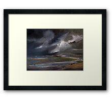 Storm over Norfolk coast Framed Print