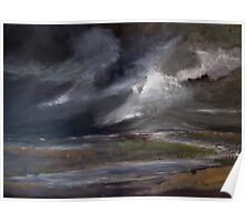 Storm over Norfolk coast Poster