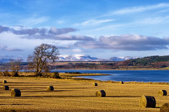 The Beauly Firth and Ben Wyvis by jacqi