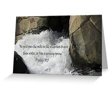 """Psalm 78:15"" by Carter L. Shepard Greeting Card"
