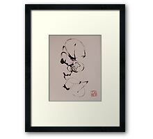 How to ride a bicycle Framed Print