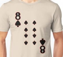 The Eight of Spades Unisex T-Shirt