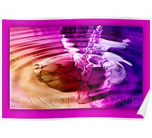 saxophone - purple Poster