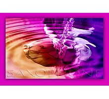 saxophone - purple Photographic Print