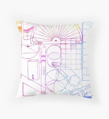 Math & Science Tools 2 Throw Pillow