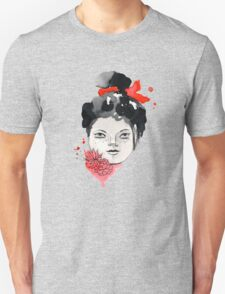 Freckled Watercolor Girl Unisex T-Shirt