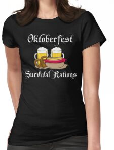 Oktoberfest Survival Rations Womens Fitted T-Shirt